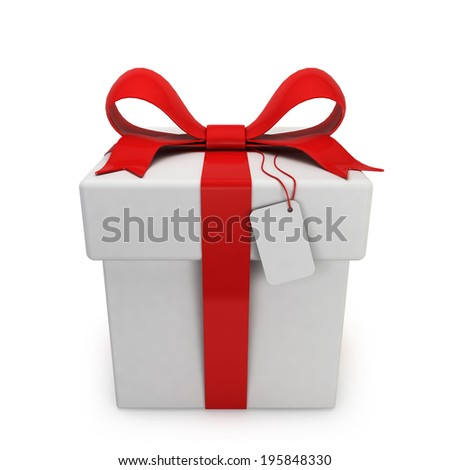 Gift box. 3d illustration isolated on white background - stock photo