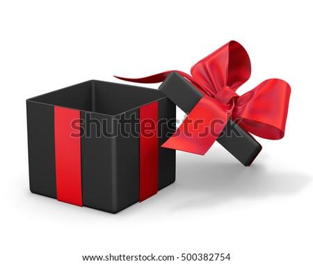 Red Black Gift Box Christmas New Stock Illustration 525354601 ...