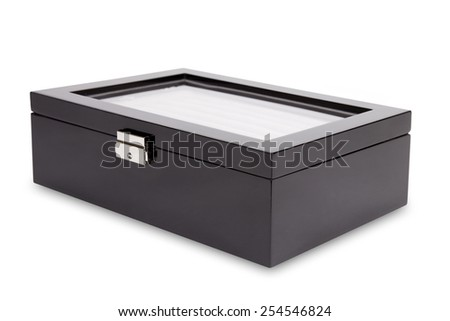 Gift box for jewelry isolated on a white background - stock photo