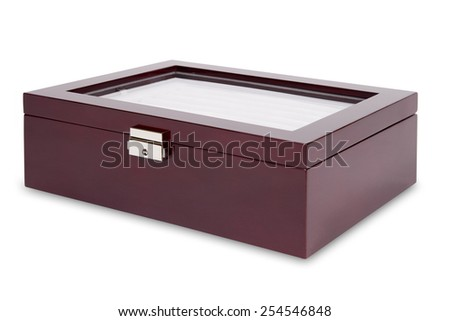 Gift box for jewelry isolated on a white background