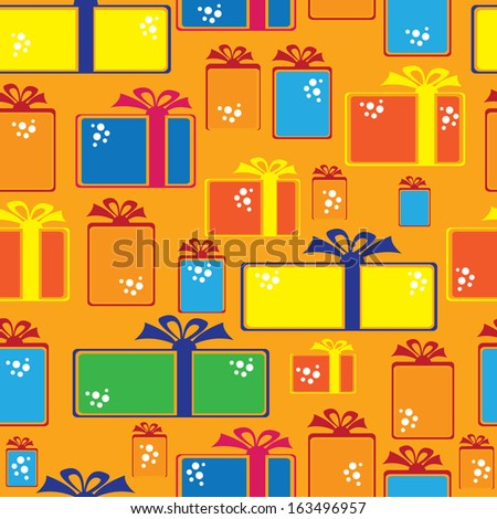 gift box icons of seamless pattern