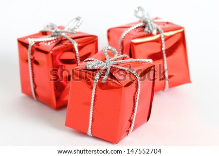 Gift box in chirstmas day - stock photo