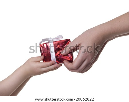 gift box in hands - stock photo