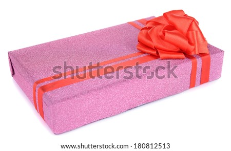 Gift box isolated on white