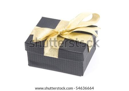 Gift box. Isolated on white - stock photo