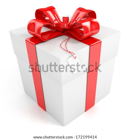 gift box isolated on white. 3d illustration