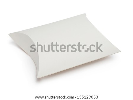 Gift box, isolated on white. Symbol of celebration and happy holiday