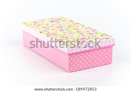 Gift box isolated white background