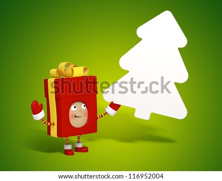 gift box message board - stock photo