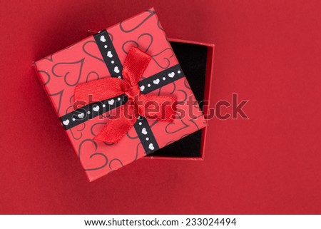 gift box on red