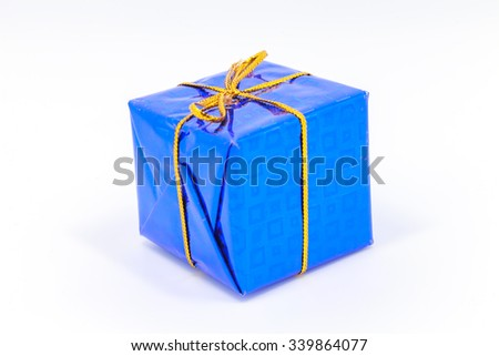 Gift box on white background. colorful gifts box.