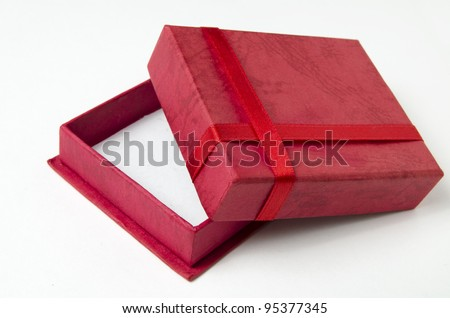 gift box open and the red