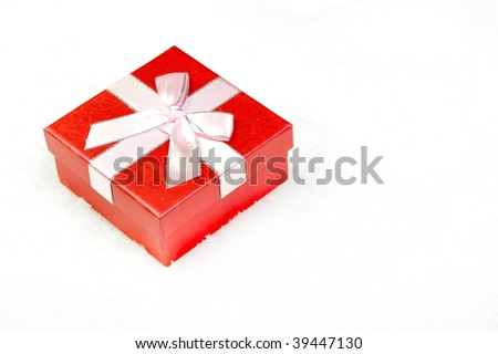 gift box over snow