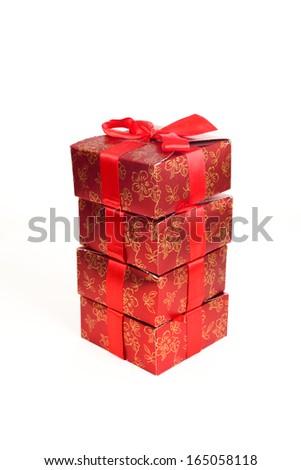 gift box over white background - stock photo