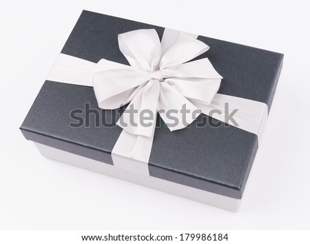 gift box with nice ribbon on white background