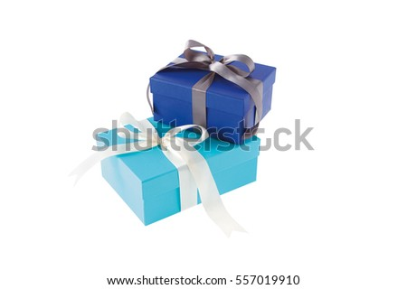 gift box with ribbon isolated on white