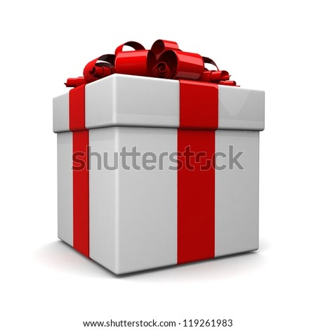 Shutterstockflat design7 gift boxes gift box with ribbon like a present over white background 3d illustration negle Choice Image