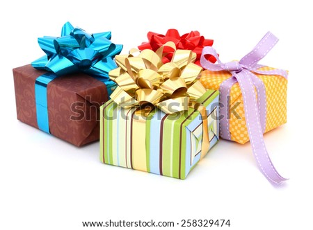 gift boxes collection - stock photo