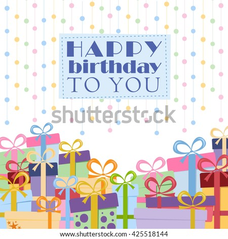 Gift boxes on a white background for greeting card with place for text