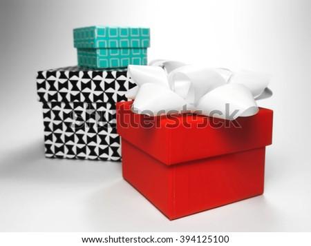 gift boxes, studio shot. - stock photo