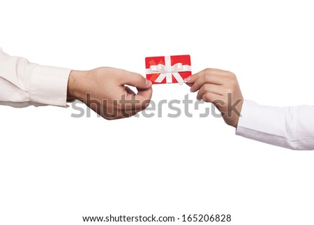 Gift card concept - stock photo