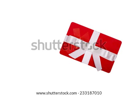 Gift card isolated on white background - stock photo