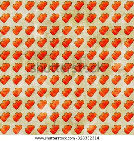 Gift card with hearts - stock photo