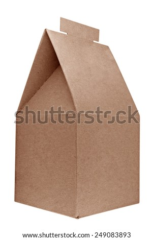 Gift cardboard box isolated on white background. Clipping path included.
