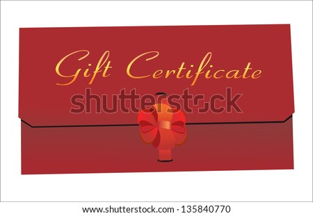 Gift Certificate isolated on white - stock photo