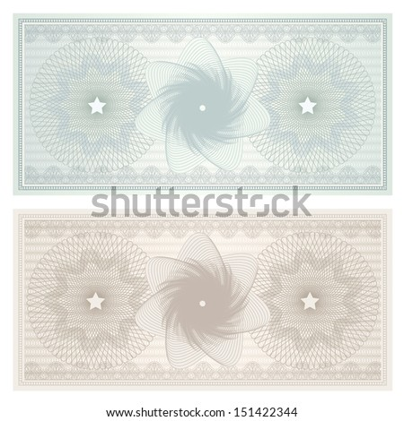 Gift Certificate Voucher Coupon Template Blue Illustration – Money Note Template