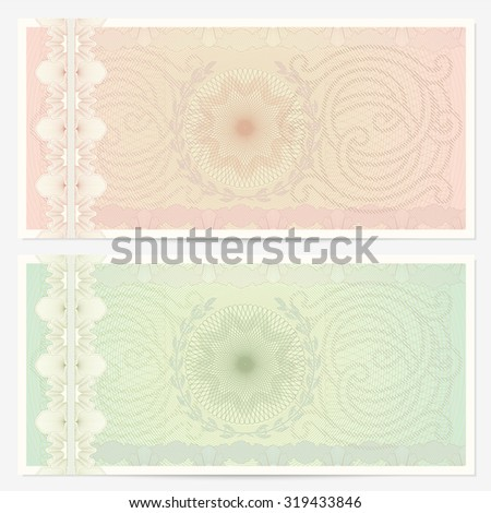 Gift Certificate Voucher Coupon Ticket Template Stock Illustration