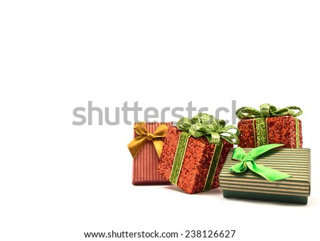 Gift christmas Isolated on white.