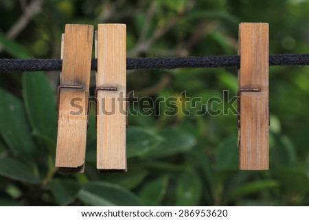 Gift clothespin - stock photo