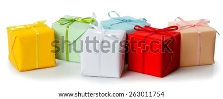Gift, Gift Box, Box. - stock photo