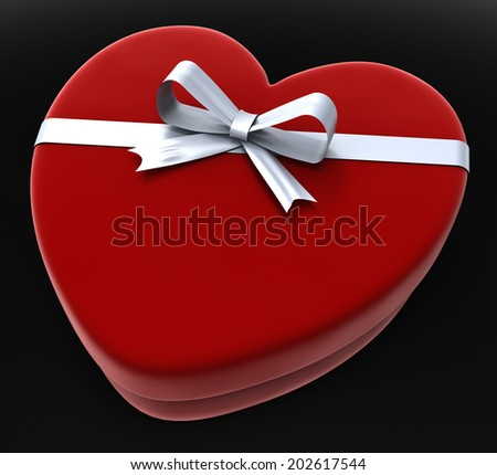 Gift Heart Meaning Valentines Day And Passion