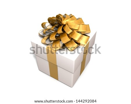 Gift isolated on a white background