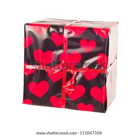 Gift isolated on white background - stock photo