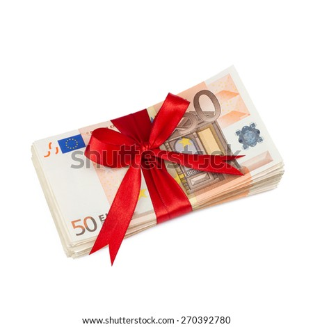 gift of money - stock photo