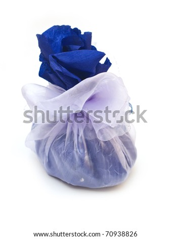 Gift sack isolated on white background