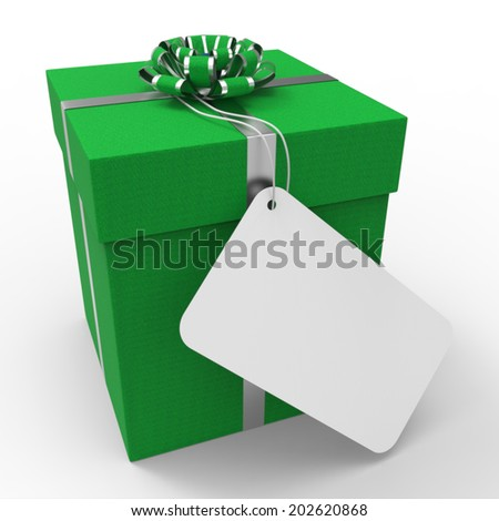 Gift Tag Indicating Blank Space And Giving