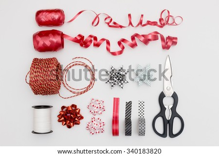 Gift wrapping - stock photo