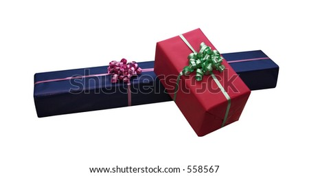 Giftboxes isolated on white with clipping path