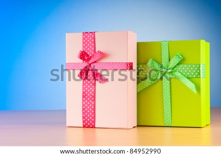 Giftboxes on the background