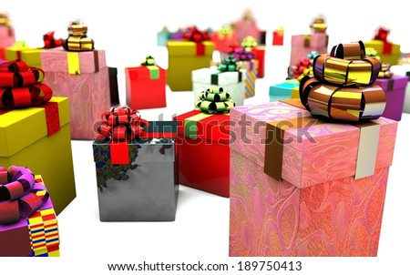 gifts and gift boxes rarely placed