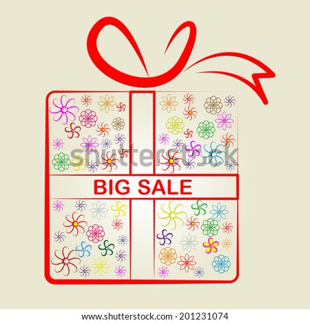 Gifts Big Indicating Surprise Occasion And Save - stock photo