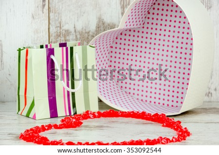 Gifts for Valentine's Day ,soft focus