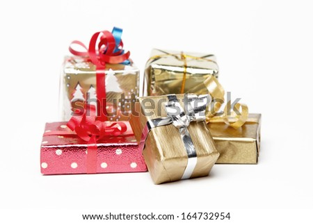Gifts group - stock photo