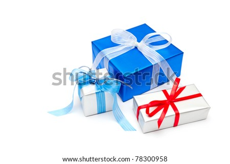 gifts isollated on the white background