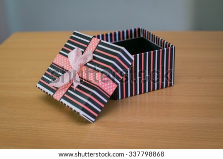 gifts on the table - stock photo