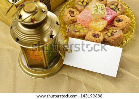 gifts with message tag - stock photo